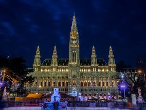 Christkindlmarkt am Rathaus in Wien