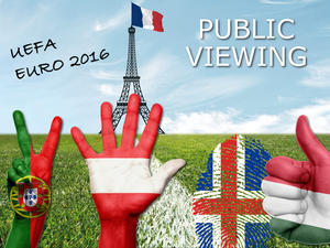 Public Viewing zur EM 2016 am Rathausplatz Wien