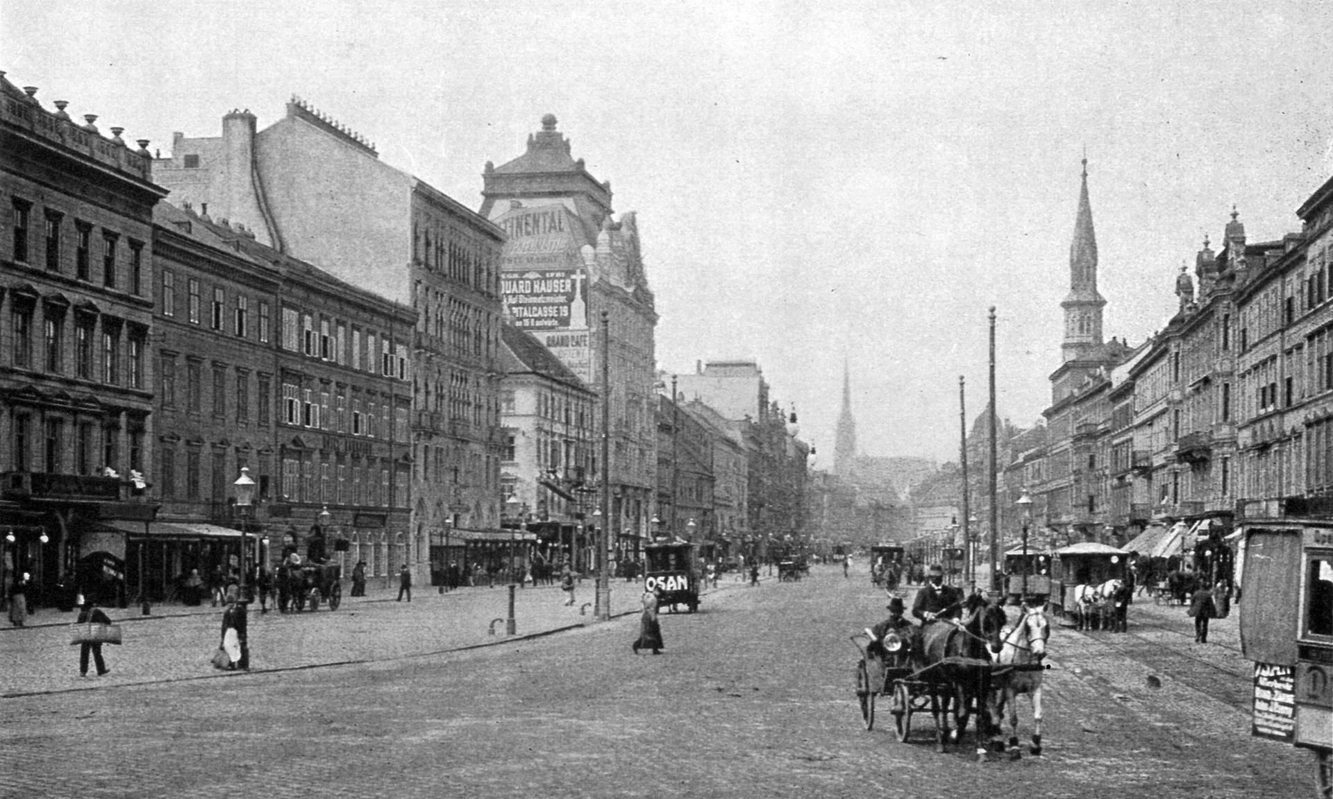 Die historische Praterstraße in Wien