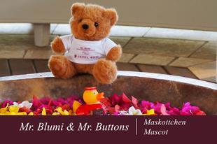 Mr. Blumi & Mr. Buttons | Maskottchen | Austria Classic Hotel Wien